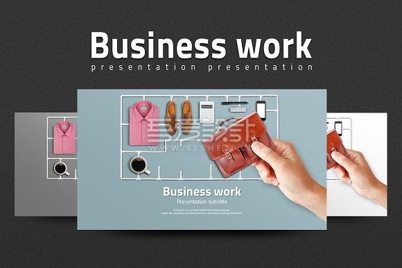 36页办公商务通用PPT模板2种规格3种配色