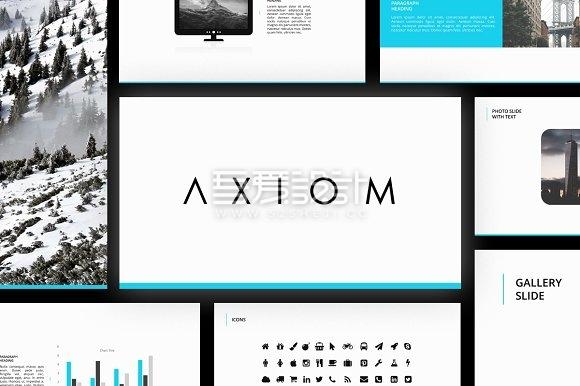 50页创意简约杂志风格PPT模板10种配色文件