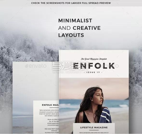 简约摄影展示杂志宣传画册模板