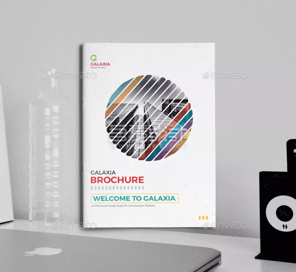 彩色简约精美企业宣传画册模板