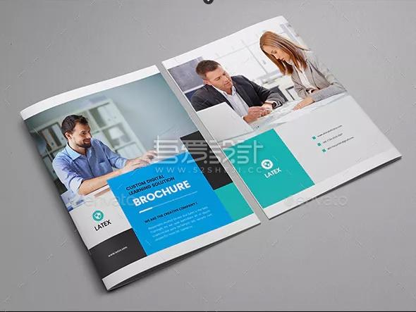 简约企业业务解决方案画册模板