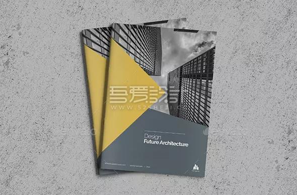 创意建筑公司宣传Indesign画册模板