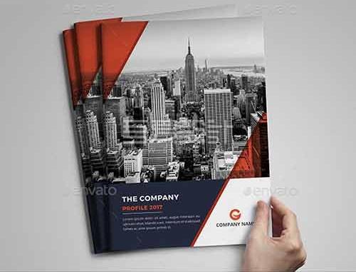 红色简约大气企业宣传团队介绍Indesign画册模板