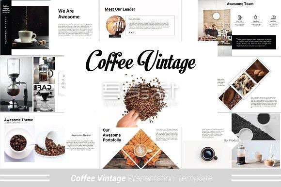 咖啡文化起源介绍PPT模板