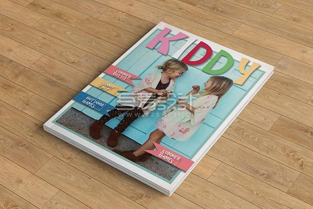 儿童摄影写真相册Indesign画册模板
