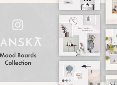 Instagram室内设计多用途展示模板