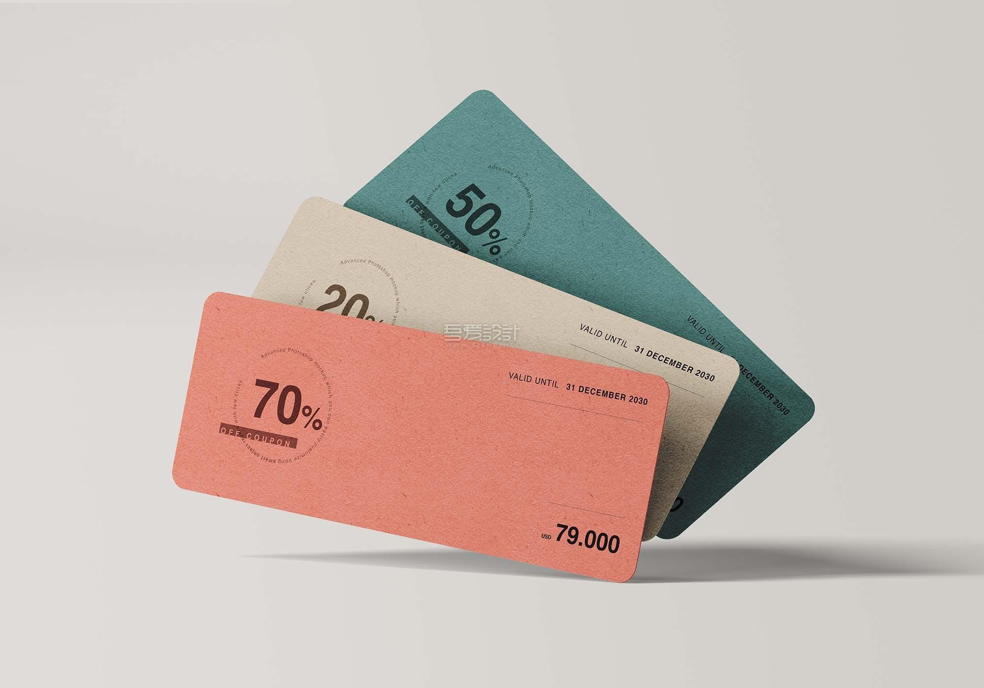 高品质优惠券门票入场券设计