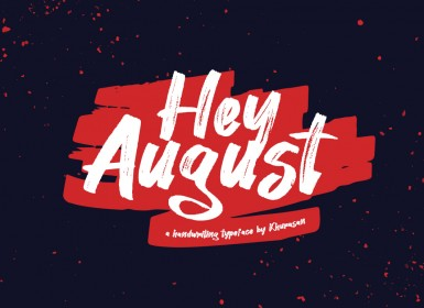 嘿八月脚本字体