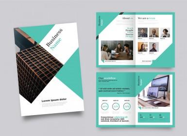 10个不同风格矢量专业宣传册打印模板