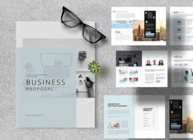 天蓝色创意商业计划书