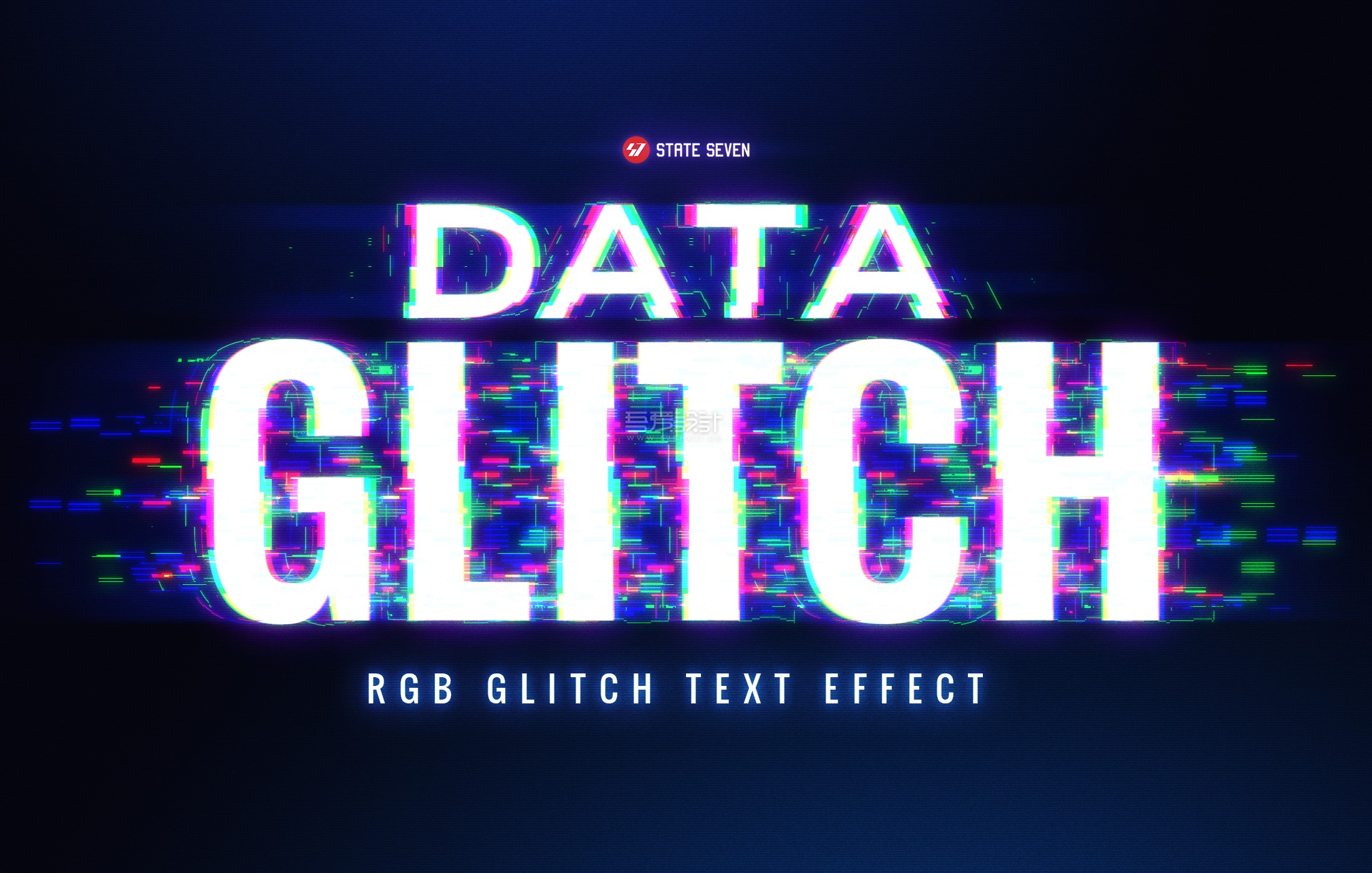 DATA GLITCH - text effect by STATE7