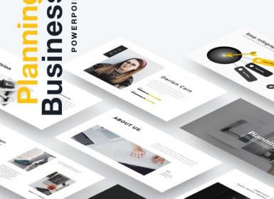 企业规划业务Powerpoint演示模板