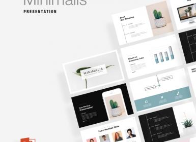 35多种独特的业务Minimalis PowerPoint演示文稿模板