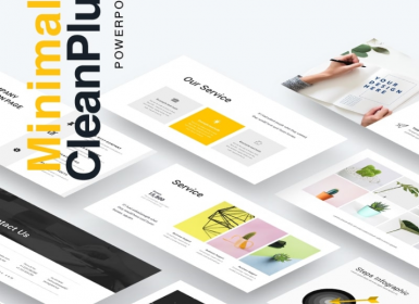 Clean40多页创意Powerpoint演示模板