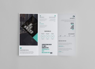 专业商业三栏式小册子模板